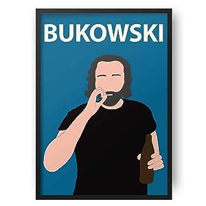 Charles Bukowski Poster Print // Gift - Dorm Decor - Minimalist - Poet - Author - Literature - Book