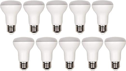 Pack de 10 bombillas LED R63 E27 mate – 8 W 680 lm – blanco cálido ...