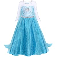Jurebecia Girls Costume Princess Dress up Birthday Halloween Kids Party Cosplay Outfit 2-12 Years