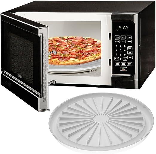 Microondas Placa de pizza Cook Bacon salchicha carne se puede ...