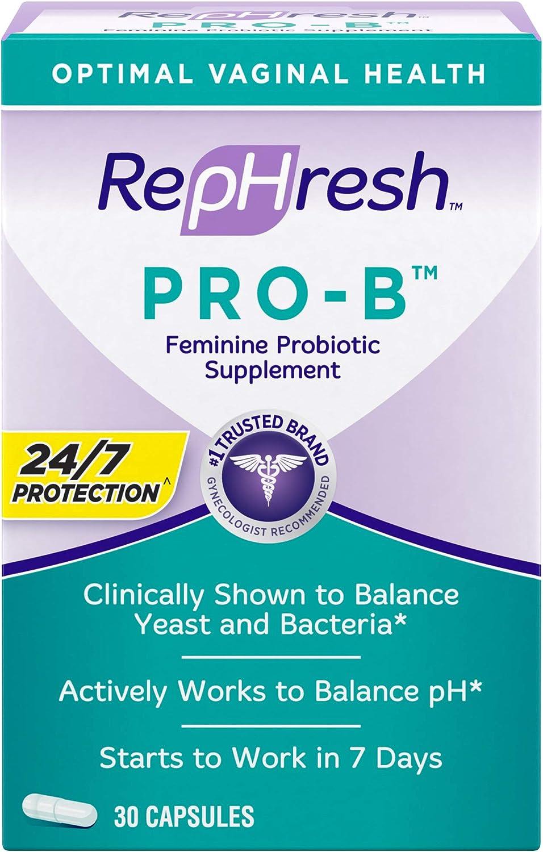 Amazon Com Rephresh Pro B Probiotic Feminine Supplement Capsules 30 Count Health Personal Care