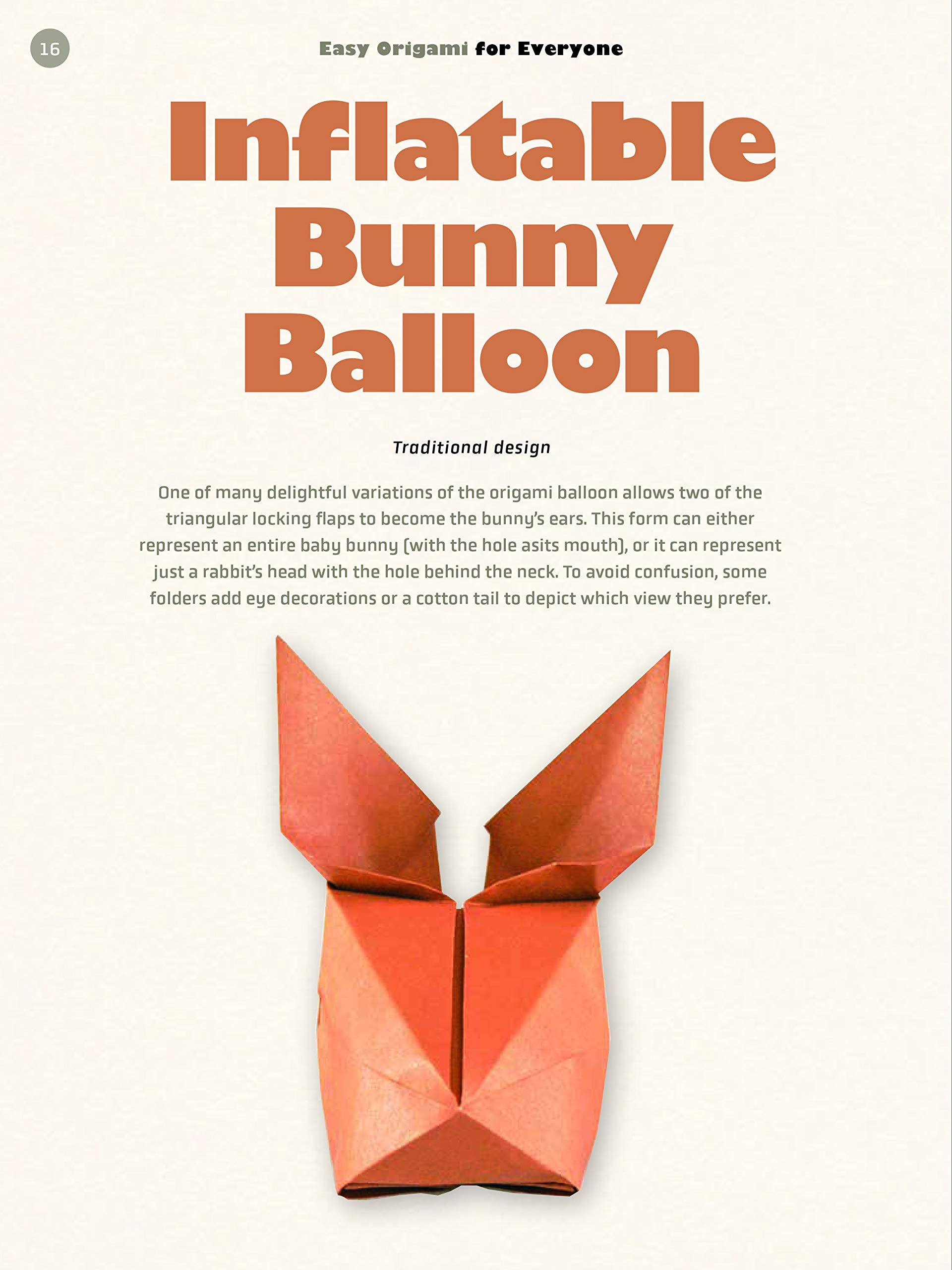 Origami Inflatable Rabbit Folding Instructions | 2560x1920
