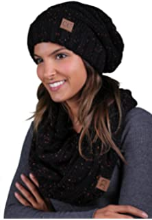 1486d810f99 Funky Junque CC Oversized Slouchy Beanie Bundled with Matching Infinity  Scarf