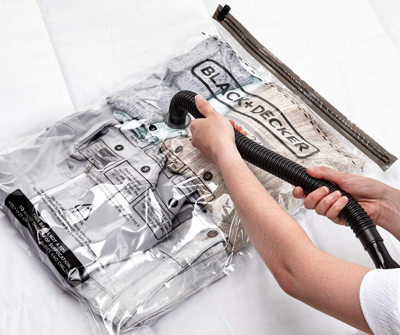 Black & Decker Vacuum Space Bag, Small/Med/Large (2 ea), Clear