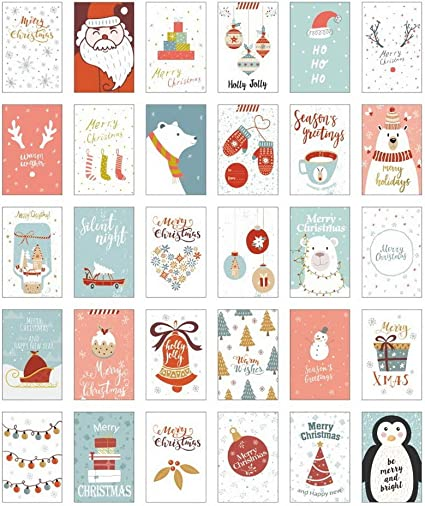 NLR Christmas Greeting Cards Pack (Letter from Snowland, Flat (Postcard)): Amazon.es: Oficina y papelería