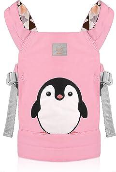 GAGAKU Puppentrage Baby Vorne und Hinten aus Baumwolle f/ür Kinder ab 18 Monate S/ü/ßes Pinguin Muster