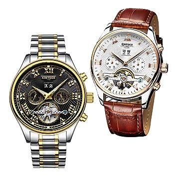 Magideal Pulsera Automático Reloj Calendario Piezas 2 Mecánico c5TJF1uK3l