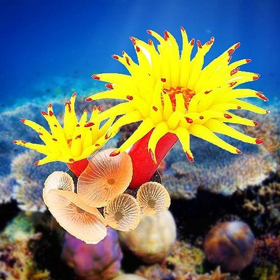 Paisaje de acuario artificial con suaves corales y árbol de resina.: Amazon.es: Hogar
