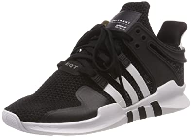the latest 9967f ec42b adidas Eqt Support Adv W Womens Fashion Trainers in Black White - 5 UK