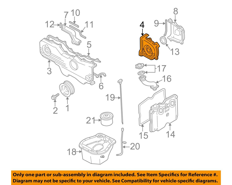 amazon com subaru 13574 aa10a, engine timing cover automotive 1998 2.3 Ford Timing Diagram