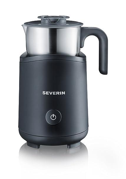 SEVERIN Milchaufschäumer, Erwärmen (Bis zu 180 ml), Aufschäumen (Bis zu 120 ml), Induktion, SM 9495, Edelstahl/Schwarz