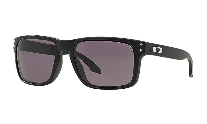 Oakley Holbrook Matte Black Warm Grey OO9102-01-57  Amazon.in ... 43ce07399c