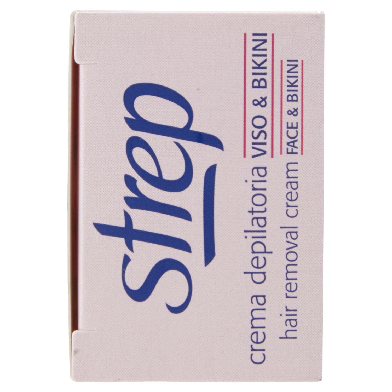 Strep - Crema Depilatoria Viso & Bikini, Azione Extra Delicata, Protettiva E Idratante - 75 Ml - [confezione da 6]: Amazon.es: Salud y cuidado personal