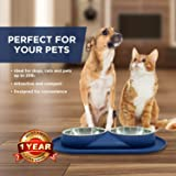 Bonza Double Dog Cat Bowls from, 12 Ounce Premium