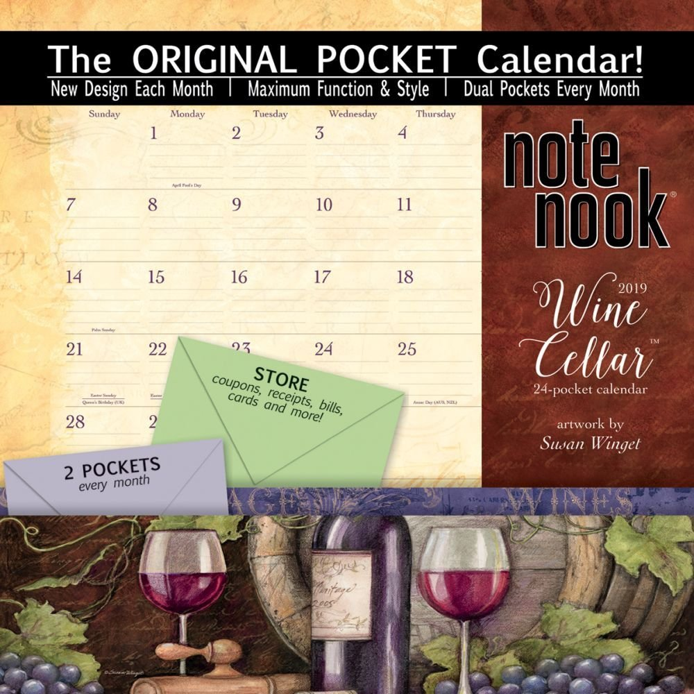 Wine Cellar 2019 Note Nook Calendar – Engagement Calendar, August 1, 2018 Susan Winget Wsbl 1469407124 Calendars
