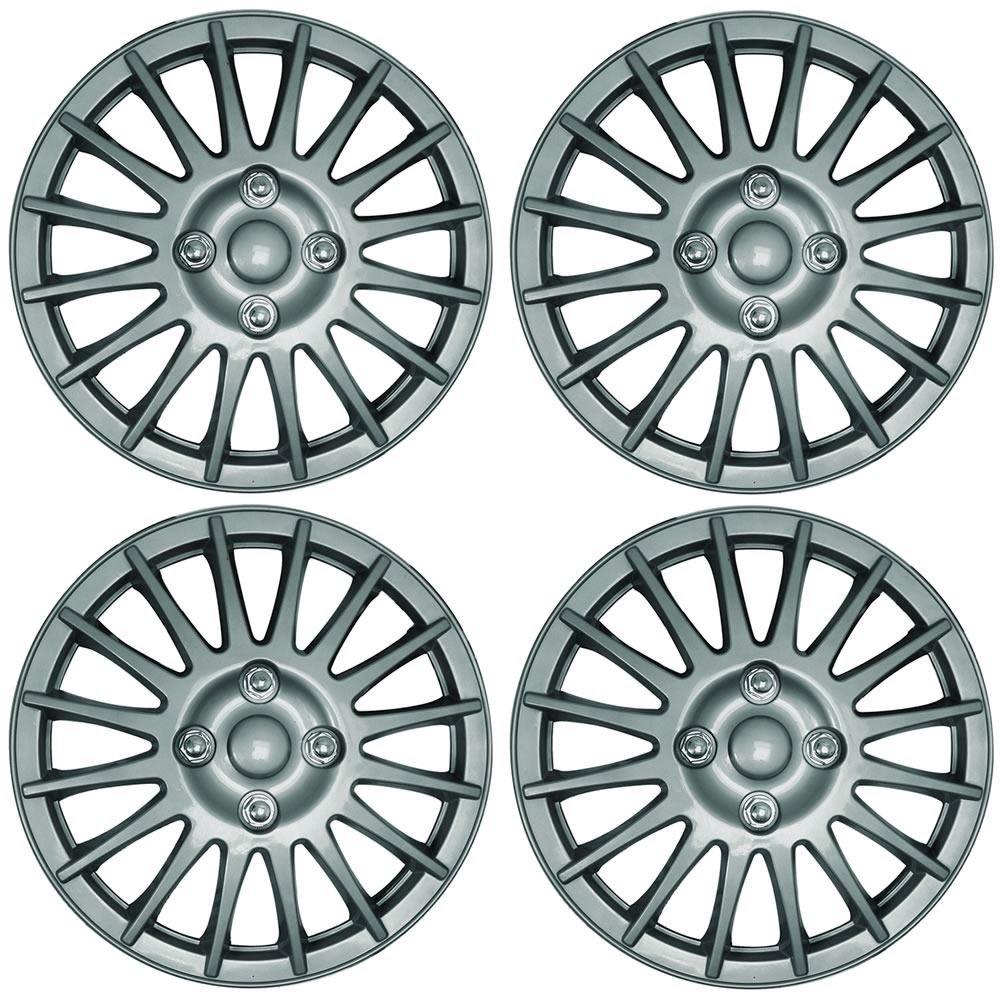 KIA PICANTO 14 Lightning Car Wheel Trims Hub Caps Plastic Covers Silver