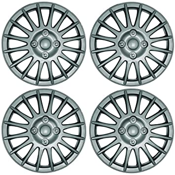 "PEUGEOT 207 15"" Lightning Car Wheel Trims Hub Caps Plastic Covers Silver"