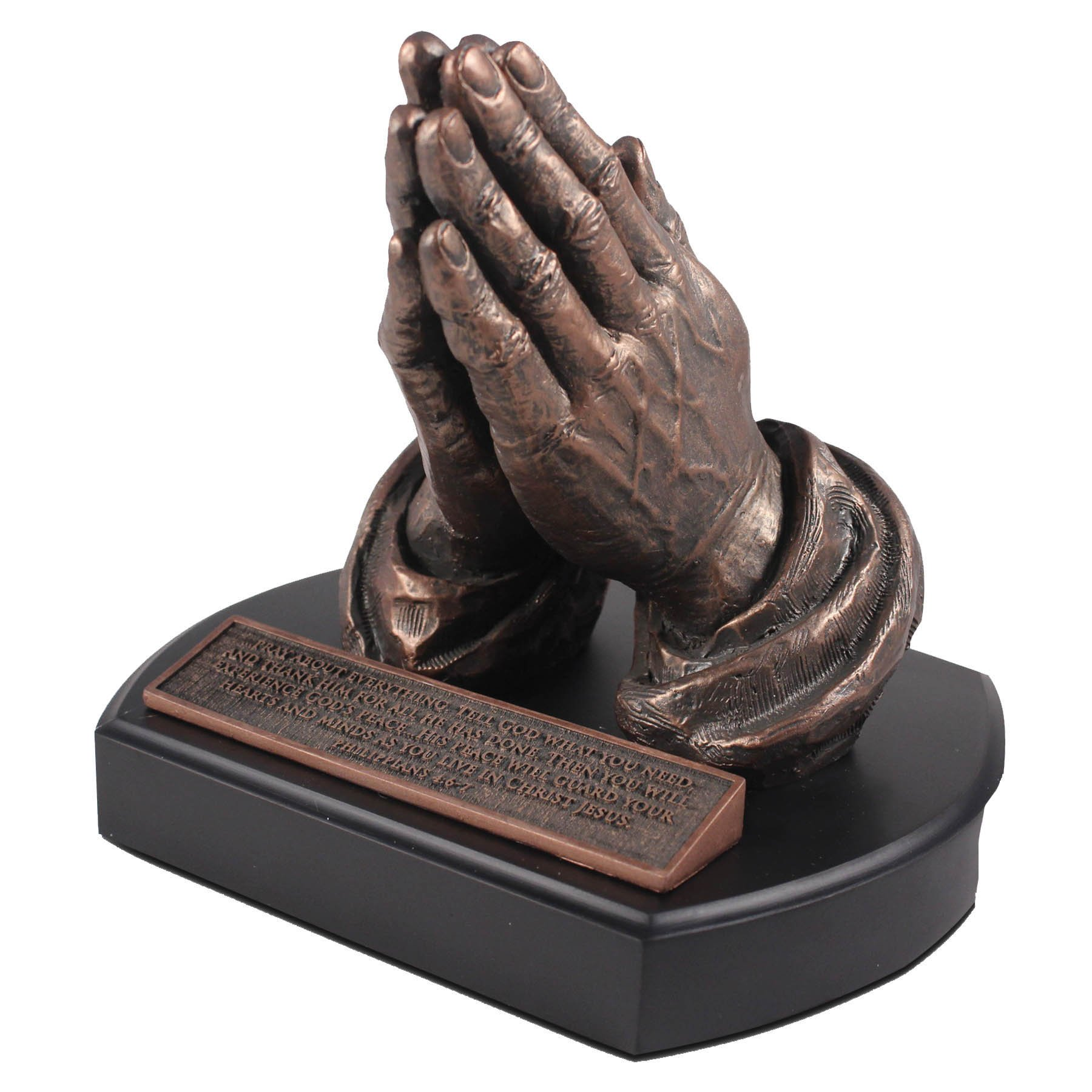 Lighthouse Christian Products Moments of Faith Praying Hands Sculpture, 5 1/2'' by Lighthouse Christian Products