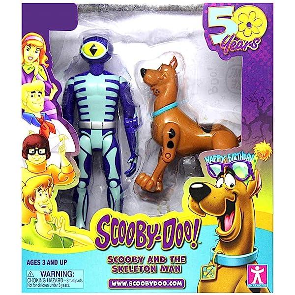 Bonecos Scooby-doo frightface Scooby Homem//Esqueleto Shaggy//Cavaleiro Sem Cabeça