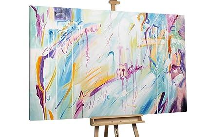 KunstLoft® Extravagante cuadro al óleo \'Tapetenwechsel\' 180x120cm ...