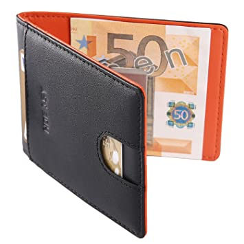 4f995b6e4946c HOEASY RFID Blocking Wallet with Money Clip - Minimalist Mini Wallet Slim  Wallet Travel Wallet Credit Card Holder for Men with Gift Box