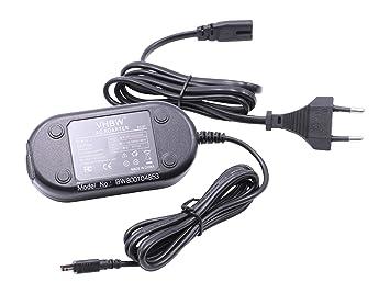 vhbw 220V Fuente de alimentación, Cargador, Cable de Carga 10W (5V/2.0A) para cámara Nikon CoolPix L100, L110, L120, L810, L820 etc. por EH-67.