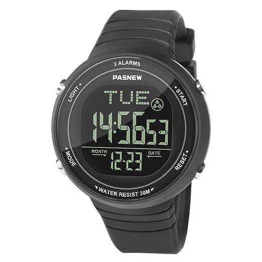 c4aebc7d4821 Hiwatch Reloj Deportivo LED Digital Gran Pantalla Relojes para Niños Niñas  Estudiantes Jovenes y Simple Reloj Impermeable Casual Luminoso Cronómetro  Alarma ...