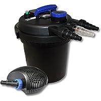 WilTec SunSun Kit de filtrado de Estanque a presión 6000l 11W UVC clarificador y 20W Eco Bomba Jardin