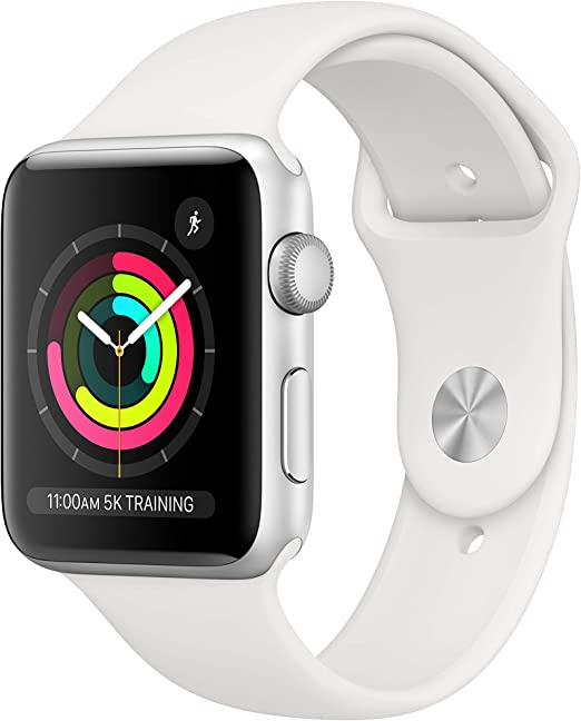 Apple Watch Series 3 (GPS, 42mm)  with White Sport Band