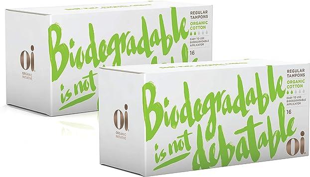 Tampones de algodón orgánico certificado por Oi | 2 cajas de 16 ...