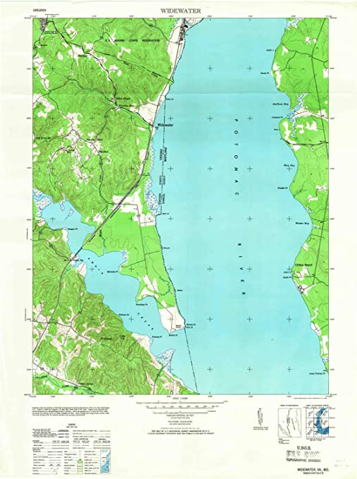 Amazon.com : YellowMaps Widewater VA topo map, 1:24000 Scale ...