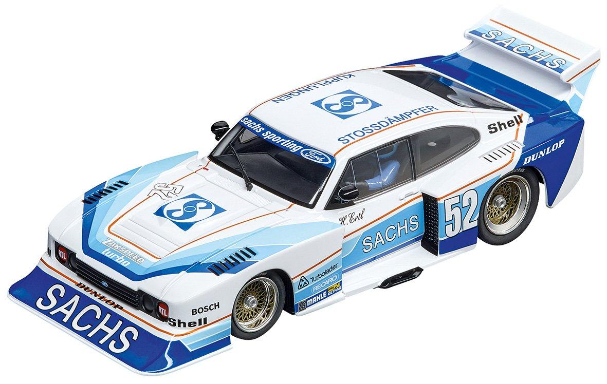 Blue//White 52 1:32 Scale Digital 132 Slot Car Racing Vehicle Carrera USA 20030831 Ford Capri Zakspeed Turbo Sachs Sporting No