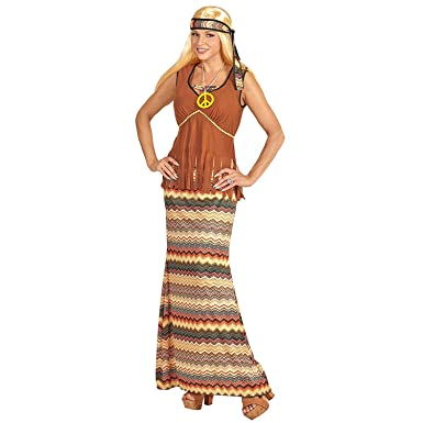 f1e26a24531d Mega_Jumble® Adult Women's 1960's Groovy Lady Costume Groovy Woodstock  Hippie Chick 60's 70's Retro Gogo