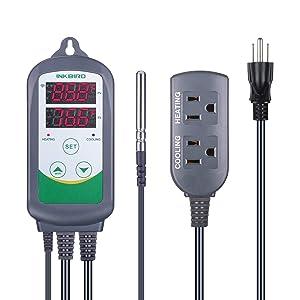 Inkbird WiFi ITC-308 Digital Temperature Controller Thermostat Remote Monitoring Controlling Home Brewing Fermentation Breeding Incubation Greenhouse
