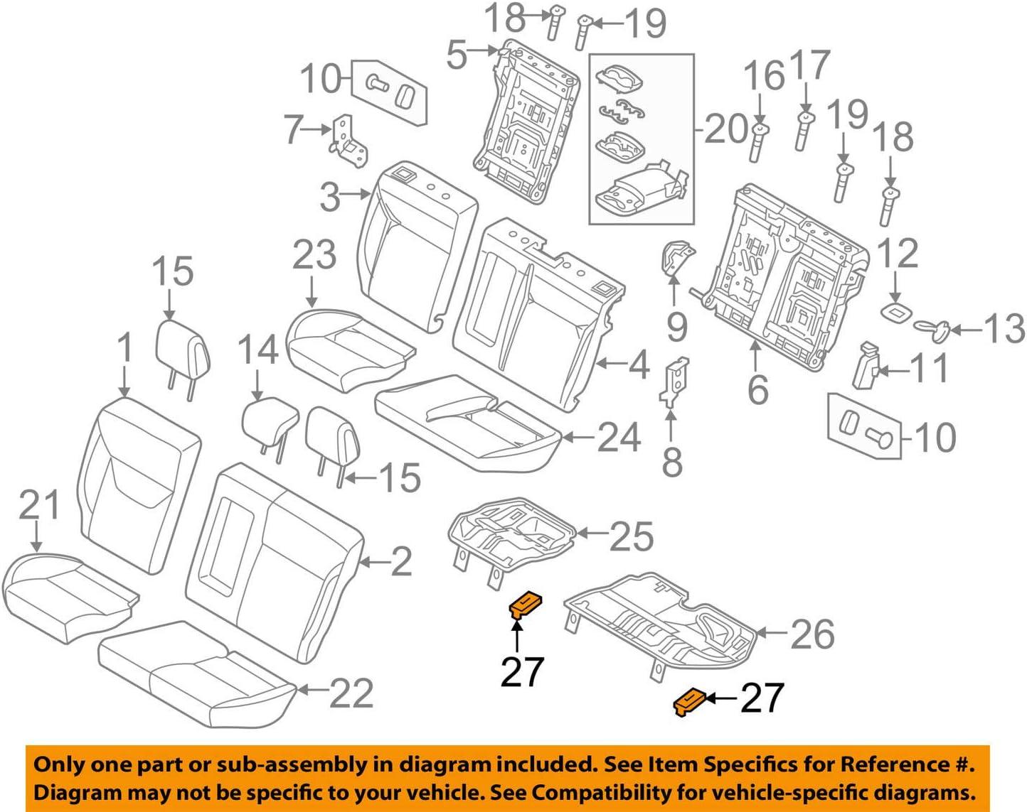 Ford OEM 12-18 Focus Rear Seat-Seat Frame Clip CV6Z14A163B