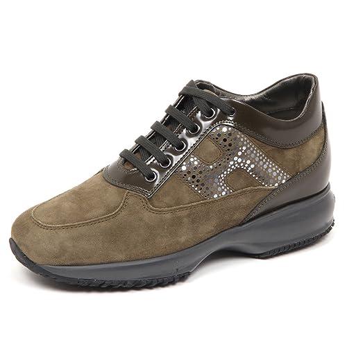 E0238 sneaker donna green HOGAN INTERACTIVE H lamina pois shoe woman