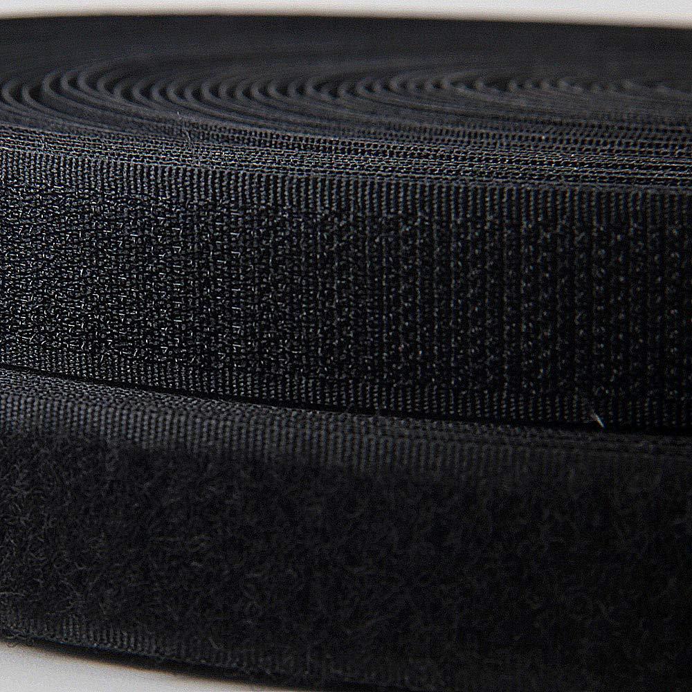 Unbekannt 5 Meter//Rolle Klettband = 5 Meter Haken und 5 Meter Flauschband 20 mm schwarz zum n/ähen