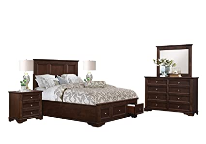 Amazon.com: Elkwood Rustic Country 5PC Bedroom Set E King ...