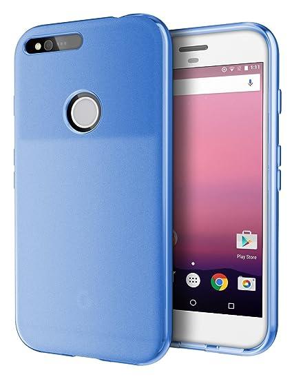 outlet store 8dc44 7b583 Google Pixel XL Case, Cimo [Matte] Premium Slim Protective Cover for Google  Pixel XL (2016) - Blue