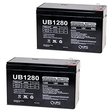 Amazon.com: UPG ub1280i Sealed Lead Acid Baterías: Home ...