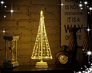 HONESTY 17Inch 85LED Night Light, Decorative Lights for Home/Decoration/Party/Wedding, USB or Battery Powered, Warm White Mini Lamp, Light Tree, Inside White L
