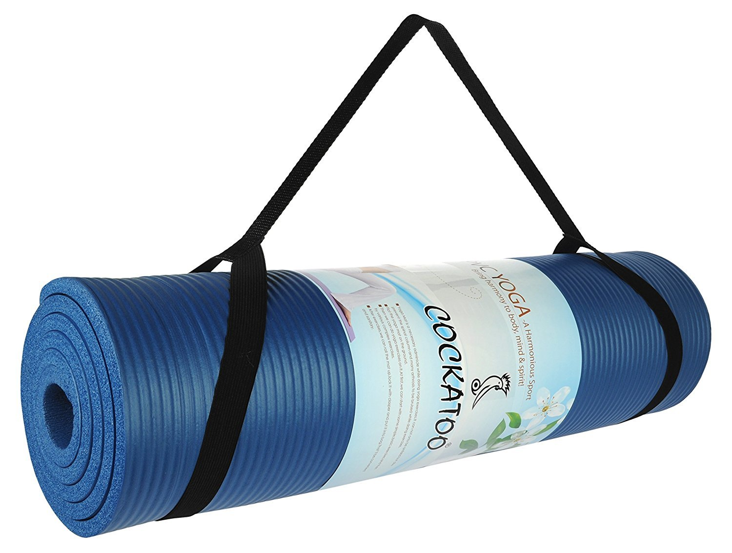 Cockatoo 10mm 12mm Yoga Mat With Straps Exercise Mat Colour May Vary Amazon In Sports Fitness Outdoors