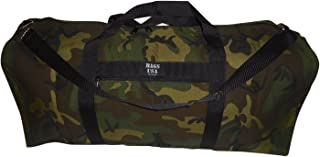 product image for BAGS USA Extra Large Eagle Duffle Bag,tough 1000 Denier Cordura Made in U.s.a. (Woodland Camouflage)
