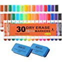 Shuttle Art 30 Pack Dry Erase Markers with Eraser