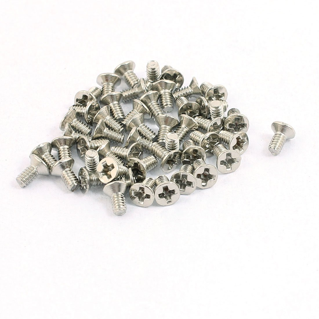 uxcell 50pcs M2x4mm Stainless Steel Countersunk Flat Head Phillips Machine Screws Bolts a16060200ux0484