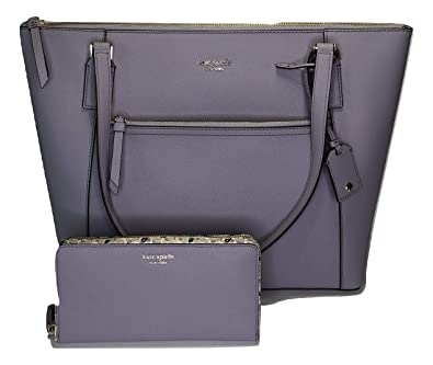 295111396 Amazon.com: Kate Spade New York Cameron Pocket Tote WKRU5841 bundled with  matching Cameron Large Wallet WLRU5407 (Icy Lavender/Micro Floral): Shoes