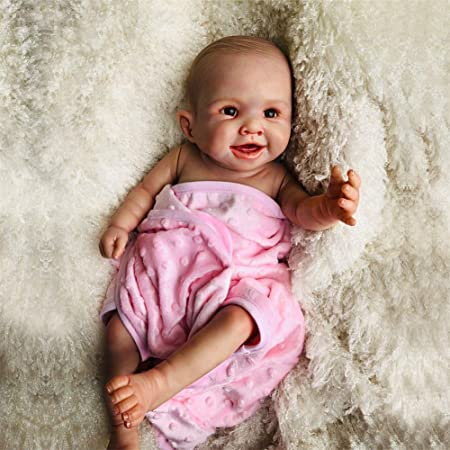 MUKEE Muñecas del bebé Reborn, 20 Pulgadas de Cuerpo Completo de Silicona para bebés recién Nacidos renacer muñecas Báñese Socio de Juguete de Regalo para niños Juguetes para Edad 3+: Amazon.es: Hogar