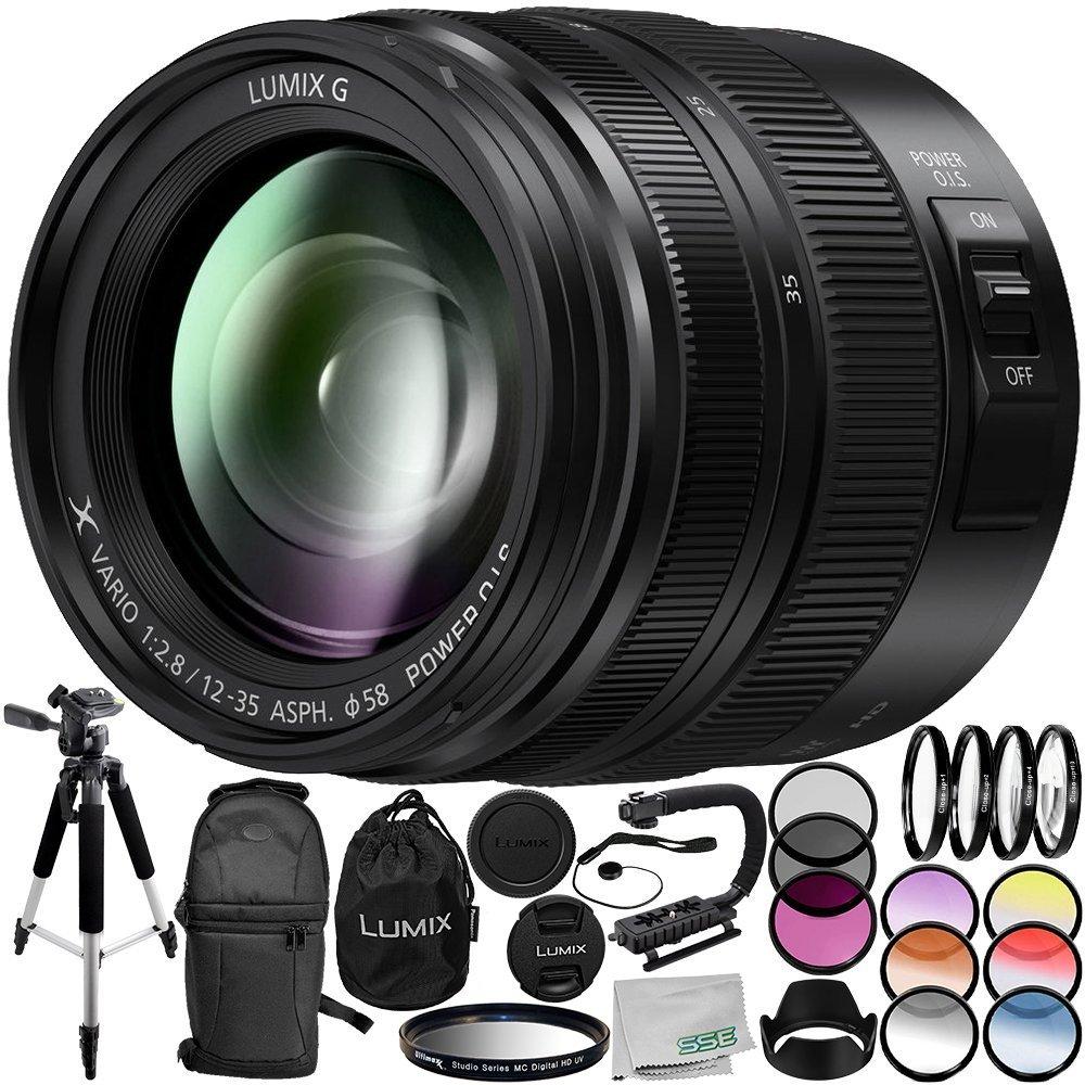 Panasonic Lumix G X Vario 12 35mm F 28 Ii Lens 14pc Asph Power Ois H Hs12035e Accessory Bundle Includes Manufacturer Accessories 3 Piece Filter Kit Uv Cpl Fld