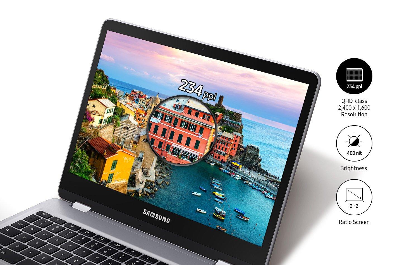 2017 Flagship Samsung 12.3'' 2-in-1 Convertible Chromebook Plus - QHD (2400 x 1600) Touchscreen, OP1 Hexa-core 2.0GHz, 4GB RAM, 32GB eMMC, Bluetooth, Webcam, 10hr Battery Life, Chrome OS- Pen included