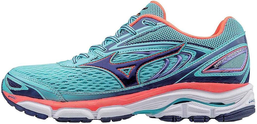 Mizuno Mujer Wave Inspire 13 Zapatillas Deportivas, 7.5 B de EE.UU. Resplandor Azul/Blueprint/Fiery Coral 5 B Reino Unido: Amazon.es: Zapatos y complementos